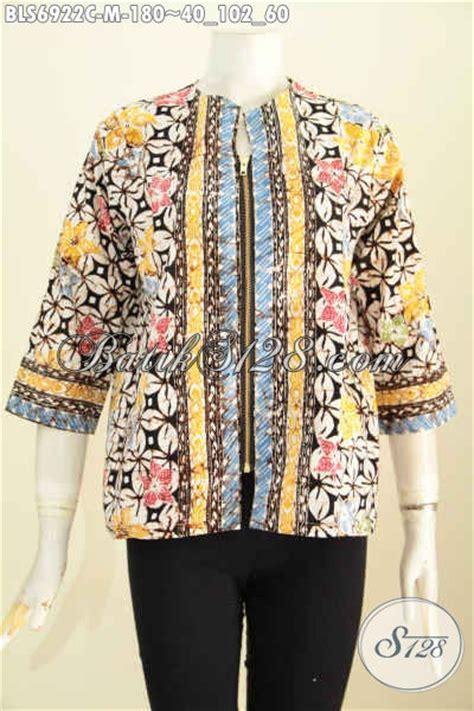 foto desain baju batik wanita foto baju batik untuk wanita desain blus modern kantong