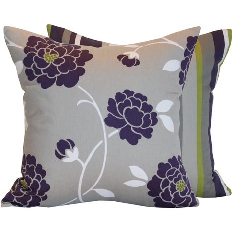 Purple And Grey Throw Pillows by Purple Gray Green Pillow Bedroom