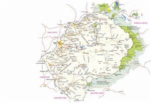 visitlesotho travel detailed road map
