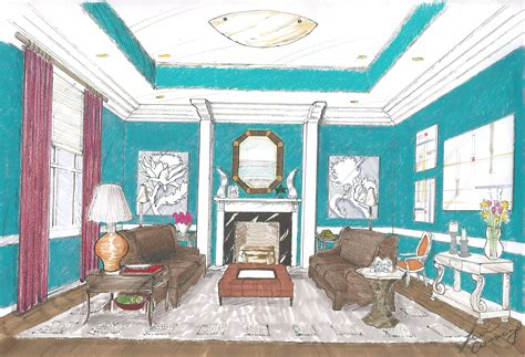 perspective living room drawing q a with an interior design student cohabitation with design