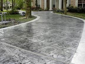 decorative concrete driveway allied siding and windows