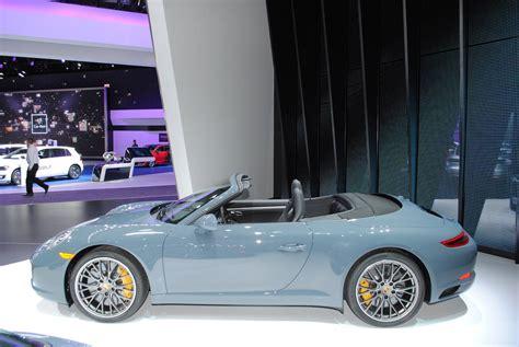 porsche graphite blue detroit 2016 porsche 911 carrera s cabriolet gtspirit