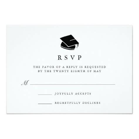 free graduation rsvp card template grad cap graduation rsvp card rsvp