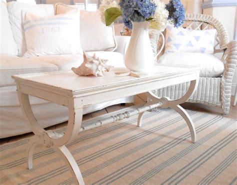 coffee table shabby chic furniture white by backporchco on