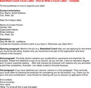 Coach Cover Letters by Basketball Coach Resume Resume Badak