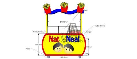 Harga Promo Kaos Desain Sendiri Custom O Neck Unisex Lengan Panjang a design design gerobak franchise kentang goreng
