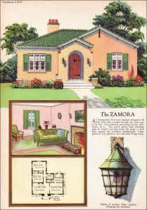Small Retro House Plans by 1927 Radford Zamora Spanish Eclectic Style Small House