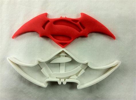 batman vs superman cookie cutter ships out by plasticfanatics 5 95 cookie cutters