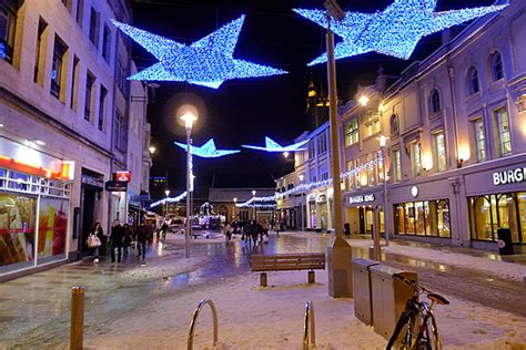 cardiff christmas lights street views around the capital