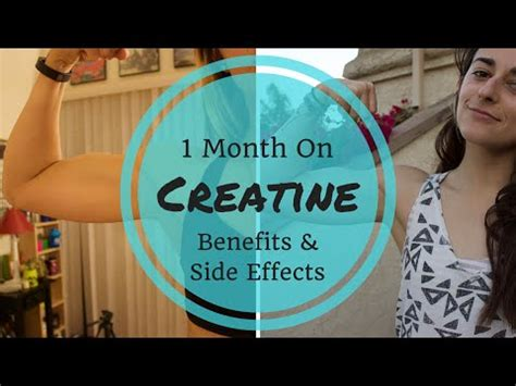 creatine 1 month 1 month on creatine benefits side effects gainz