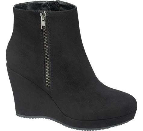 Best Seller Wefges Boots Yy02 black wedge ankle boots deichmann