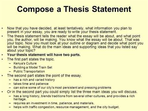 Why Should I Do A Thesis by How To Write A Thesis Statement What Is A Thesis Statement