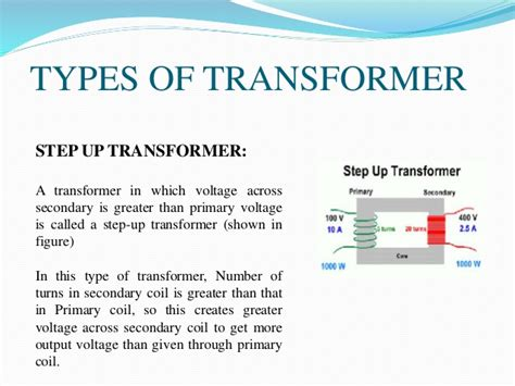 types of inductance ppt presentation about transformer and its types
