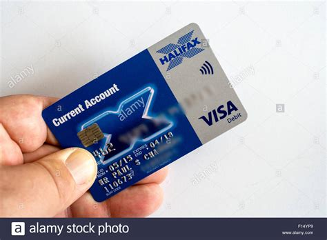 bank card halifax bank chip pin debit card stock photo royalty free