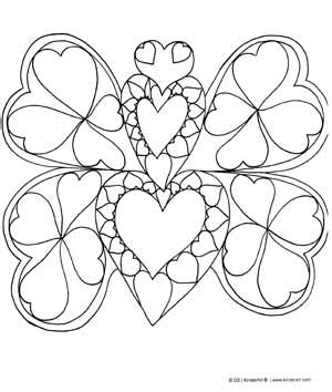 coloring pages of hearts and butterflies best photos of butterfly valentine coloring pages hearts