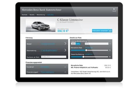 Mercedes Lease Calculator Mobile Rate Calculator By Mercedes Bank
