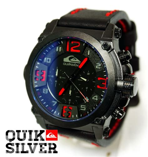 Jam Tangan Pria Quiksilver Tali Black List Chrono quicksilver leather black kucikuci shop