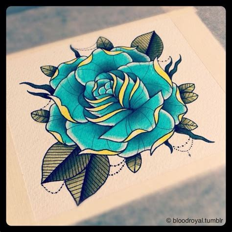 flash tattoo use used for my shoulder rose tattoo flash beautiful blue