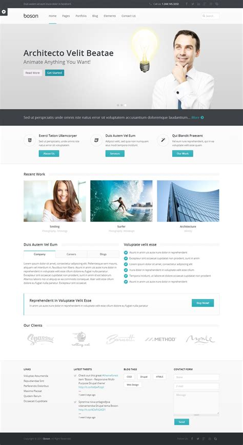 drupal themes definition 5 best responsive multipurpose drupal themes in 2013