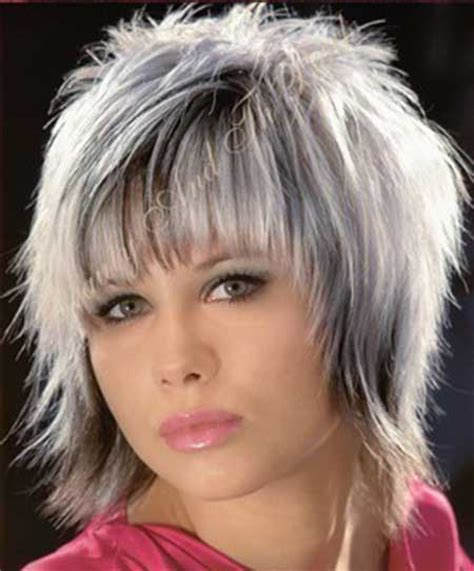 hair designs with grey streaks short black hair styles with grey streaks