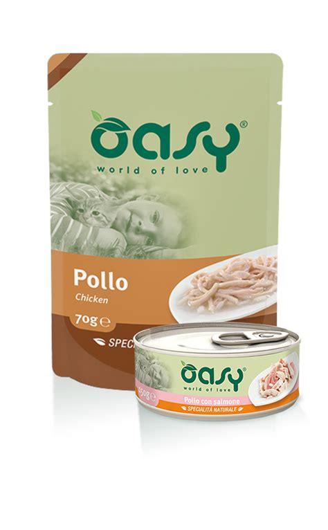 alimenti per gatto linea cibo umido per gatti oasy
