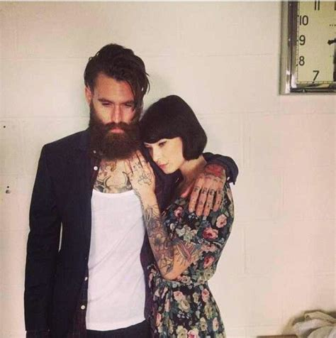 tattooed bearded couple 93 best images about ricki hall on pinterest drops of