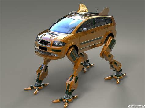 3d illustration his car floating robo hurto