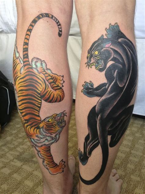 black foot tattoo designs black panther and tiger on tattoos