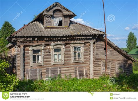 old wooden house in russian village stock photo colourbox old wooden house in a russian village stock photo image