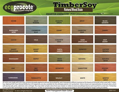 Woods L Color Guide by Stain Color Chart Concrete Coating Color Chart