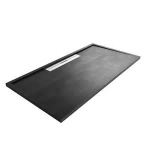 Shower Trays Fiora Rectangular Avant Low Profile Black Shower Tray