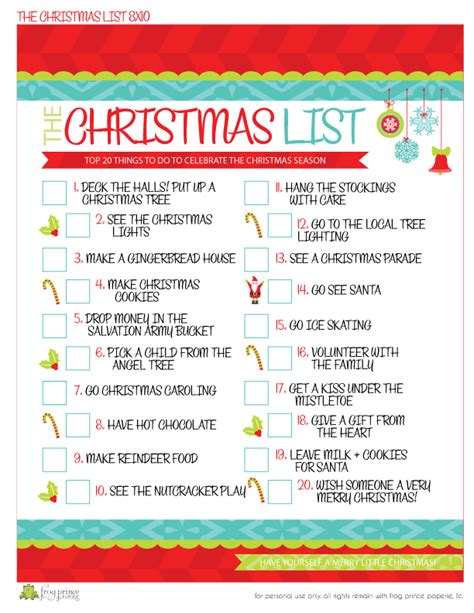 free printable holiday to do list the christmas to do list free printable frog prince