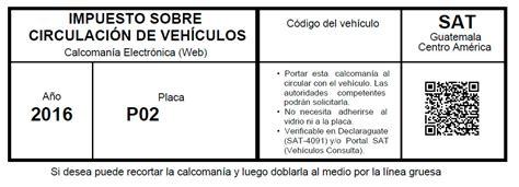 tabla de impuestos de cisrculacion 2016 sat de guatemala si no la tiene o la perdi 243 estos son los 250 ltimos d 237 as