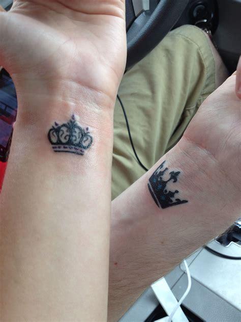 crown tattoos crown tattoo couples princess prince