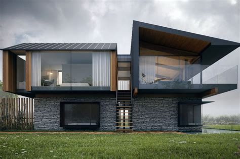 modern house designs floor plans uk plans for a striking modern home on the gower win planning