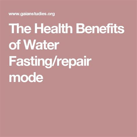 Benefits Of Detoxing For 24 Hours by 25 Best Water Fasting Ideas On Digestive