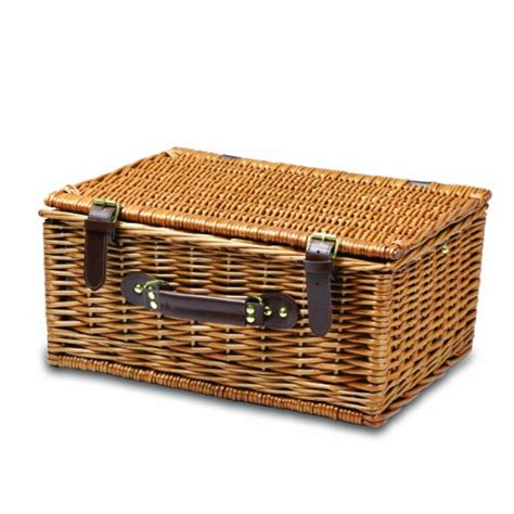 1set And Spoon Desert picnic time bristol willow picnic basket with deluxe service for two desertcart