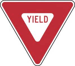 yield sign color yield color clipart etc