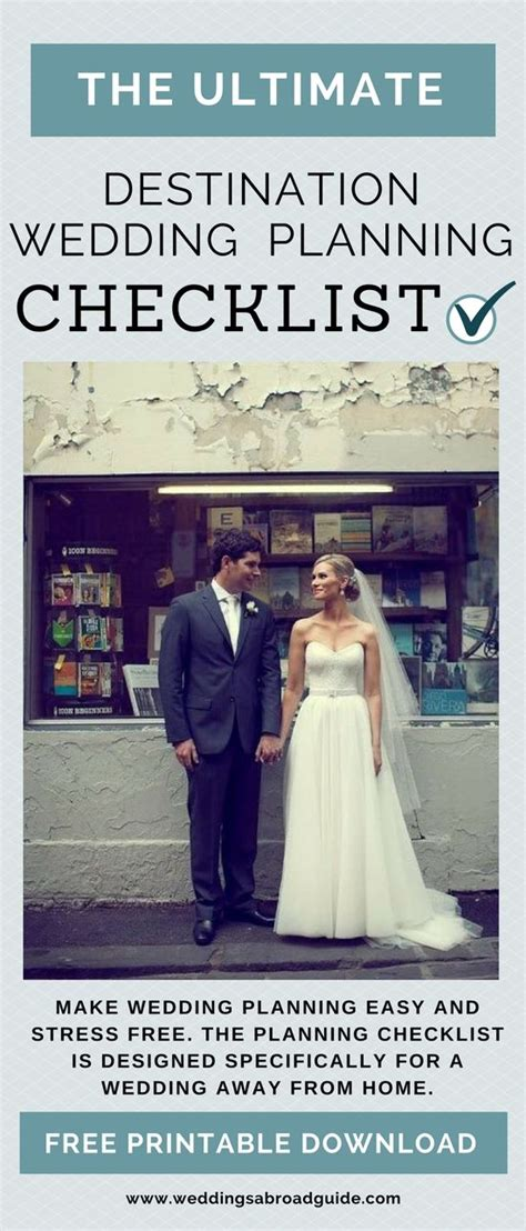 Wedding Checklist Abroad by Wedding Planning Checklist For Destination Weddings