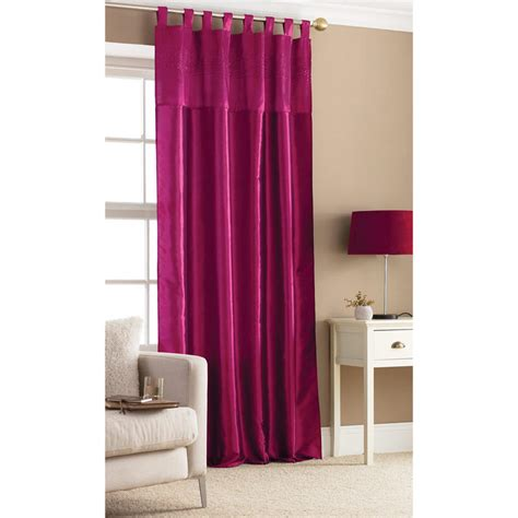 fushia pink curtains embroidered taffeta window curtain panel fuschia pink