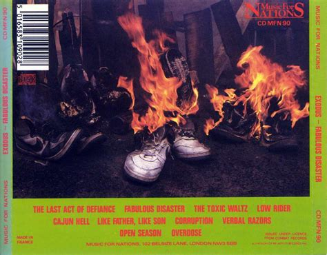 Cd Exodus Fobulous Disaster index of musiques exodus exodus 1989 fabulous disaster