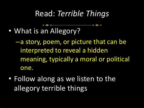 libro terrible things an allegory the terrible things allegory