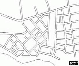 Blank Town Map by Cities Towns And Villages Coloring Pages Printable Games