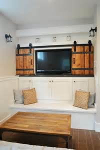 Sliding Barn Door Tv Cover Architectural Accents Sliding Barn Doors For The Home
