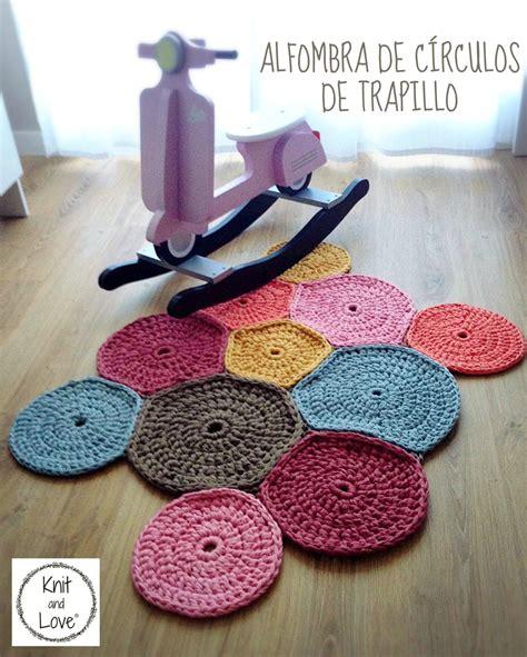 alfombra ganchillo alfombra de circulos de trapillo f 193 cil trapillo