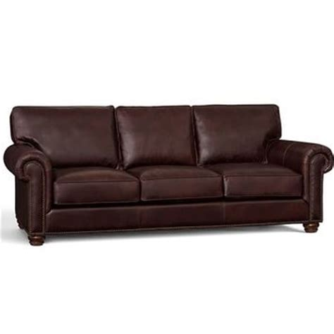 webster leather sofa from pottery barn