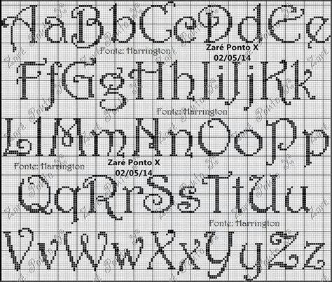 letter pattern pinterest alphabet cross stitch pattern