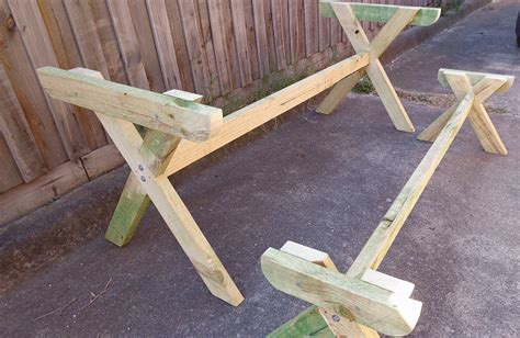 diy table with cross legs build a picnic table with crossed legs page 11