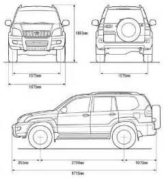 Toyota Dimensions Toyota Blueprints Toyota Land Cruiser 120 2002 Free
