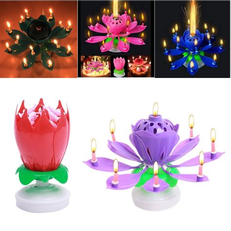 lotus flower birthday candle buy wholesale lotus birthday candle from china